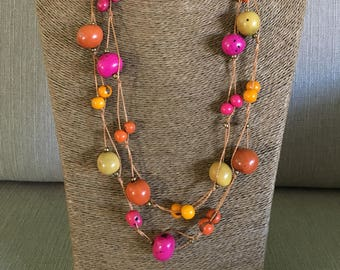 Tagua Statement Necklace / Tagua Jewelry / Tagua Necklace / Statement Necklace / Tagua Nut Jewelry
