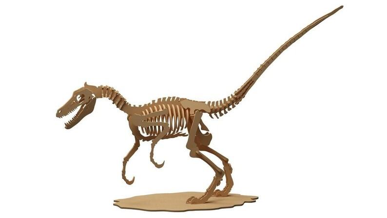 Velociraptor 3d Wood Puzzle 3d Model