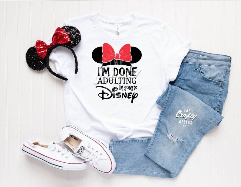322744062 I'm done adulting I'm going to Disney rose gold disney | Etsy