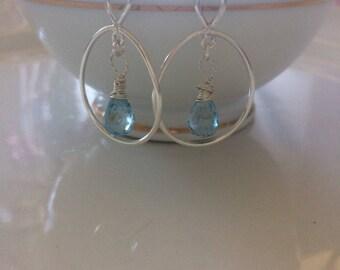 Topaz dangling earrings
