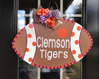 Clemson Tiger door hanger