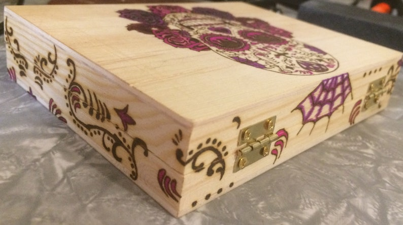 Sugar Skull Playing Card Box