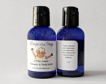 Natural Baby Shampoo and Body Wash 2 oz - Organic Baby Shampoo - Nontoxic Unscented Shampoo - All Natural Infant Shampoo - Organic Body Wash