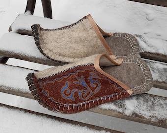 Sheep Wool Women/'s Slippers Hand Made Natural Wool Highlands Warm EU 37-38 39-40