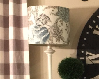 Lampshade cover etsy custom drum lampshade coversleeve removable your fabric aloadofball Choice Image