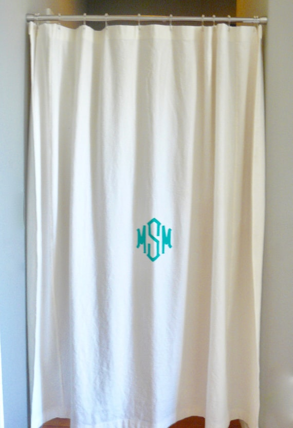 Drop Cloth Shower Curtain Monogrammable