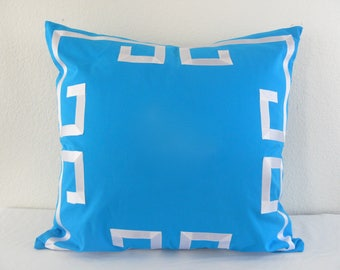 Greek Key Euro Pillow Grosgrain Applique Trim Sham/Cover