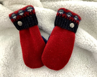 Mittens - Recycled in Vermont - Stand Out in the Crowd!