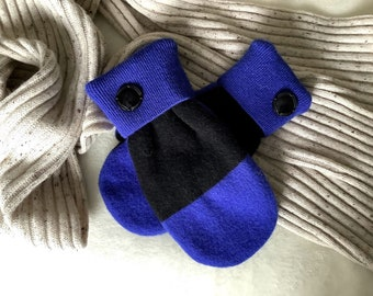 Mittens - Recycled in Vermont - What's Wrong with a Blue Winter?!