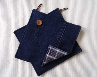 Handmade Pot Holders - Jeans and Shirts Live On!