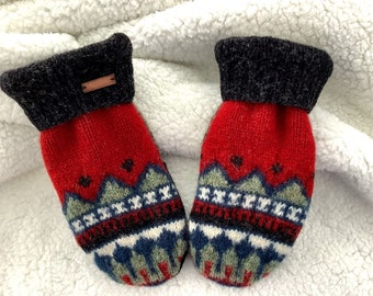 Men's Mittens - Recycled in Vermont - Stand Out in the Crowd!