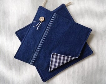 Handmade 8-inch Pot Holders - A New Life for Those Dickies!