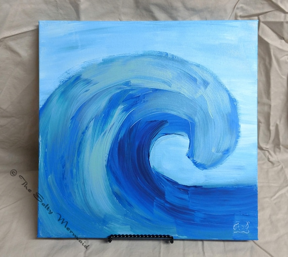 12 x 12 abstract wave painting etsy