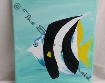9 x 13 Abstract Angelfish Painting