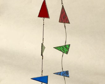 Stained Glass Triangle Mobile