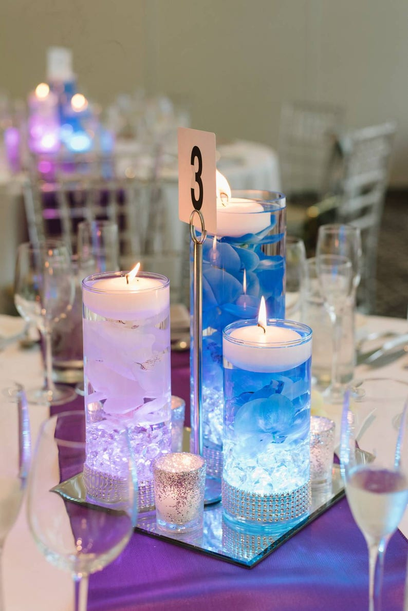 Incredible Wedding Centerpiece Floating Candle Centerpiece Blue Decor Purple Decor Led Centerpiece Wedding Decor Bridal Shower Decor Baby Shower Home Interior And Landscaping Analalmasignezvosmurscom
