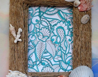 Shell & Jute Picture Frame