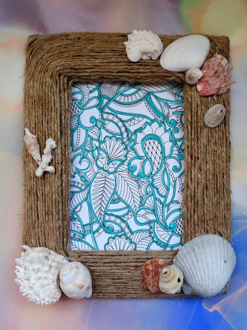 Shell & Jute Picture Frame image 0