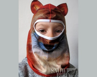 Fox Kids Balaclava for skiing - Winter Warm Full Face Cover - Balaclava for  children - Windproof Kids Ski Mask - Cat Mask for snowboarding ed3833e69f94