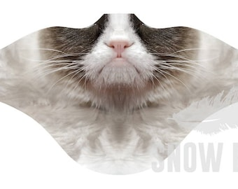 Sad Cat Facemask   Windproof Facemask   Face shield for snowboarding Skiing  Face mask Thanksgiving gift for snowboarder Grumpy cat mask bafe40e1a25e