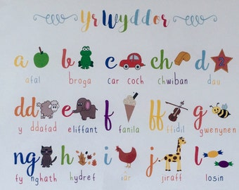 Print Yr Wyddor A3 - A3 Welsh Alphabet Print
