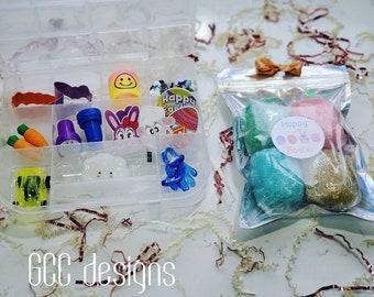 EASTER dough kit, SPRINGTIME Baking Playdough Sensory Kit,Kids Gift,Montessori Toys,Pretend Play baking Busy box,Playdough kits, toys, FUN