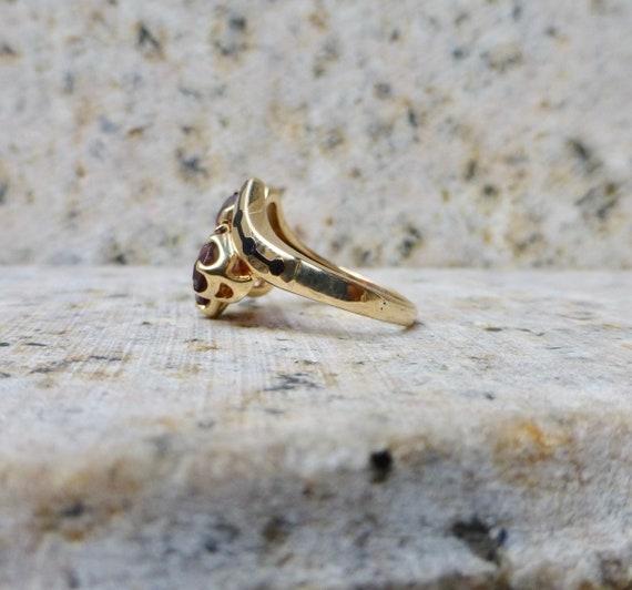 Mid Century Garnet Ring, Vintage Garnet Ring, Gar… - image 6