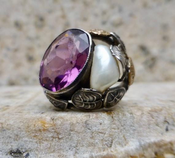 Art Nouveau Statement Ring, Art and Crafts Stateme