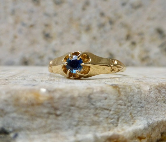 Victorian Sapphire Ring, Antique Sapphire Ring, Vi