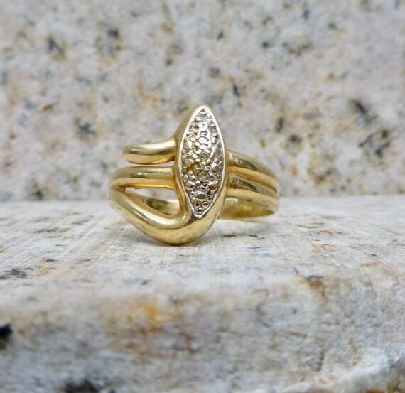 Vintage Diamond Ring, Vintage Diamond Snake Band,