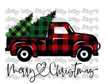 Christmas Truck Svg Etsy