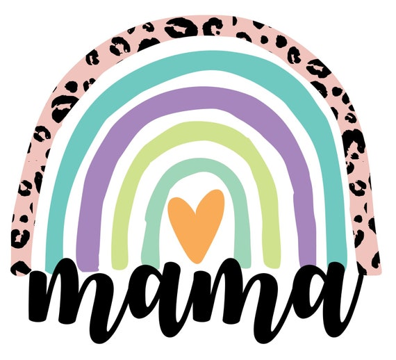 Leopard Rainbow png Mama Silhouette Png Rainbow Baby png Mama Rainbow Digital Download Files