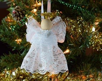 lacey angel christmas tree ornament christmas decor holiday angel angel ornament - Angel Christmas Tree Ornaments