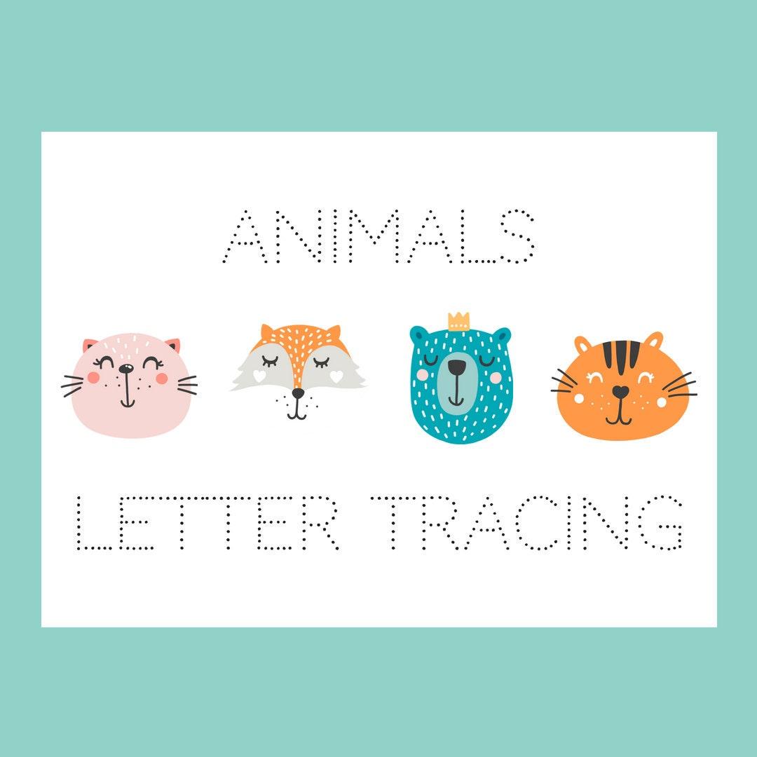 Preschool Worksheets Tracing Letters Handwriting Practice | Etsy