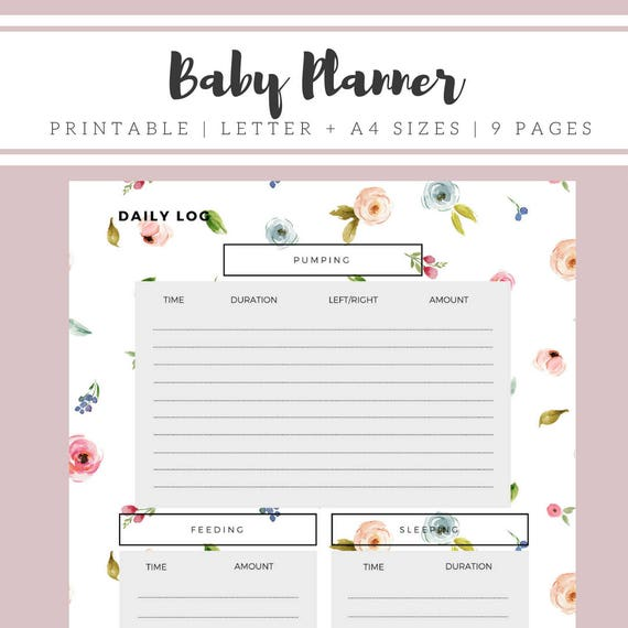 graphic about Baby Daily Log Printable referred to as Kid Planner Printable, Youngster Feeding Routine Instantaneous Obtain, Baby Little one Log Printable, Breastfeeding Tracker, Nanny Log, Clean Mother Diary