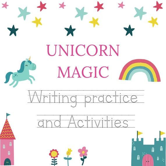 Unicorn Activity Kindergarten Worksheets Preschool Etsy
