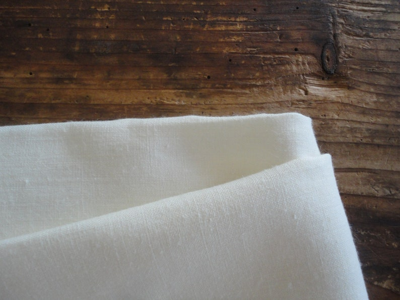 handmade from midi weight hemp in creme /_ with certain black-out effect creme HEMP curtain panel  drape