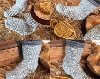 Nalbinding Socks Uk 9 ~10 Viking Made to your Size . Rare breed wool Handmade socks, bushcraft socks, Reenactment socks