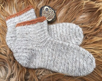 Nalbinding Socks Uk 11~12 Viking Made to your Size . Rare breed wool Handmade socks, bushcraft socks, Reenactment socks