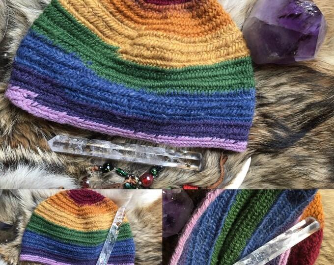 Nalbinding Hat, Ready to ship Shetland wool , 100%  Wool. quality soft Shetland Nalbinded quality