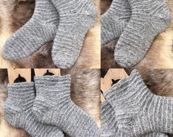 Nalbinding Socks Viking UK 4-5 , US 5-6, Made to your Size  100% Wool rare breed wool Reenactment socks