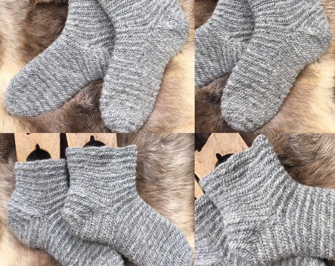 Nalbinding Socks Viking UK 4-5 , US 5-6, Made to your Size  100% Wool rare breed wool Reenactment socks