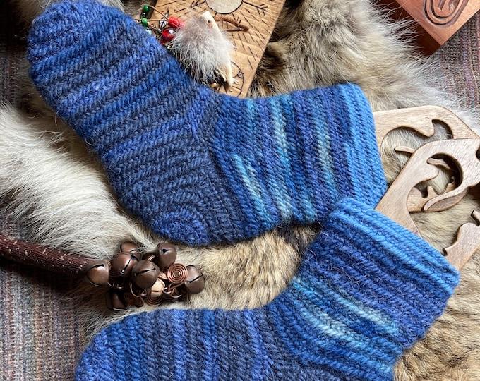 Nalbinding Socks Viking Socks Ready to Ship UK 6-7 Made to your Size, Viking breed wool socks, Anglo Saxon socks, Reenactment socks