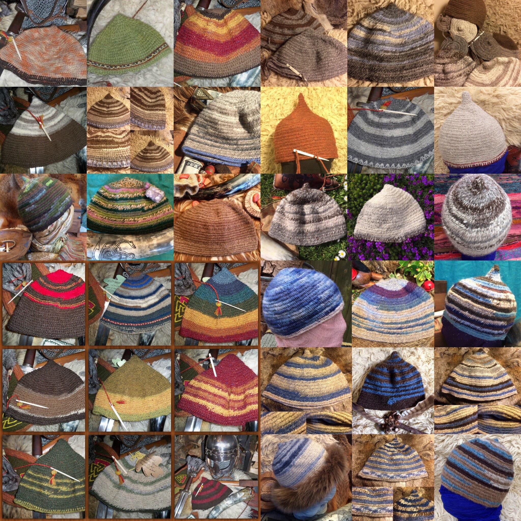 ee3ae7133db Viking wool handmade Nålebinding hats in quality rare breed sheep wools.  gallery photo gallery photo gallery photo ...