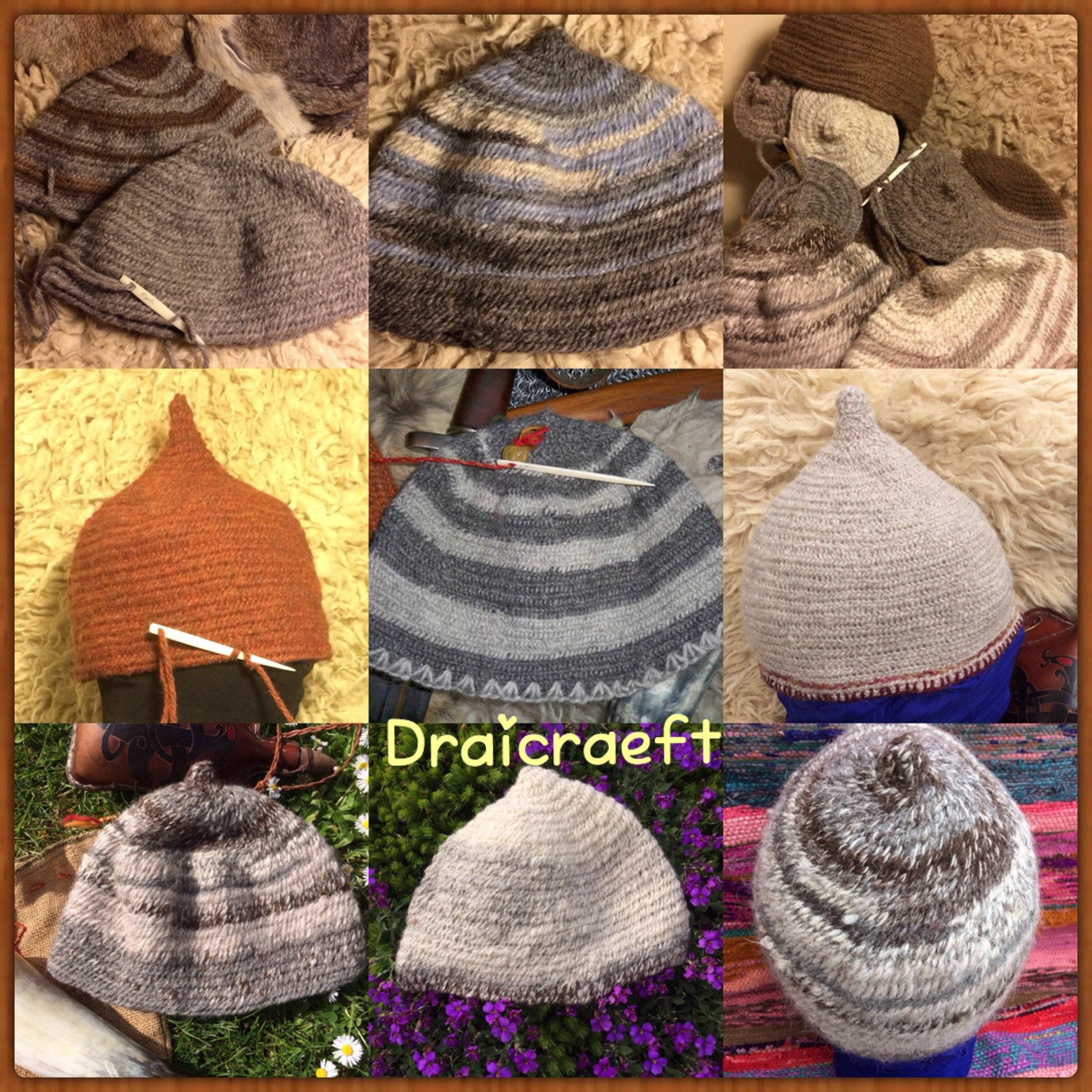 367ef2f5611 Viking wool handmade Nålebinding hats in quality rare breed sheep wools