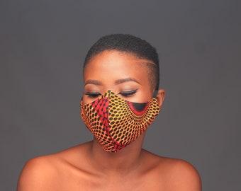 Reusable Ankara Facemask