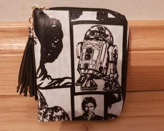 Custom - star wars - purse wallet clutch - luke leia han chewie r2d2 c3po