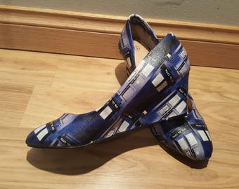 b6928cb0e35b Doctor who - tardis - Womens wedges shoes - size 9 - Custom Made
