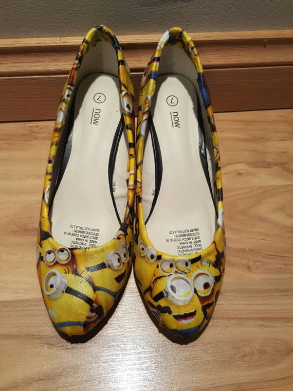 Minions despicable Schuhe Womens Keil Größe 7 Custom made sofort lieferbar