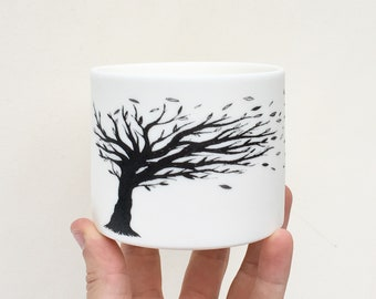 Blowing Tree Porcelain Candle Holder